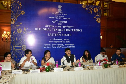 Shri Anant Kumar Singh, Secretary, Union Ministry of Textiles addressing Govt. officials during Regional Textile Conference at Taj Bengal, Kolkata on 11th September 2017