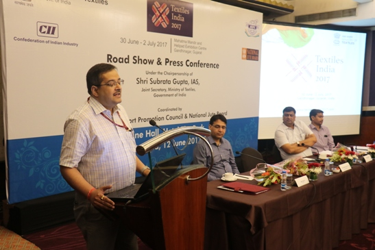 Textile India 2017 – Road Show and Press Conference under the Chairmanship of Shri Subrata Gupta, Joint Secretary, Ministry of Textiles, Govt. Of India at Park Hotel, Kolkata on 12/06/2017