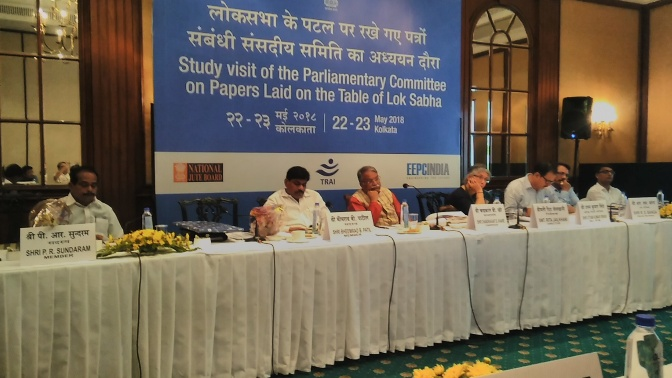 Interaction with NJB during Study visit by the Parliamentary Committee on Papers laid on the Table of Lok Sabha at Kolkata Grand Hotel on 23rd May 2018