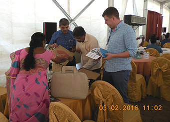 Jute Units - interacting with Foreign Buyers at BSM at Coir Kerala on 3rd Feb 2016