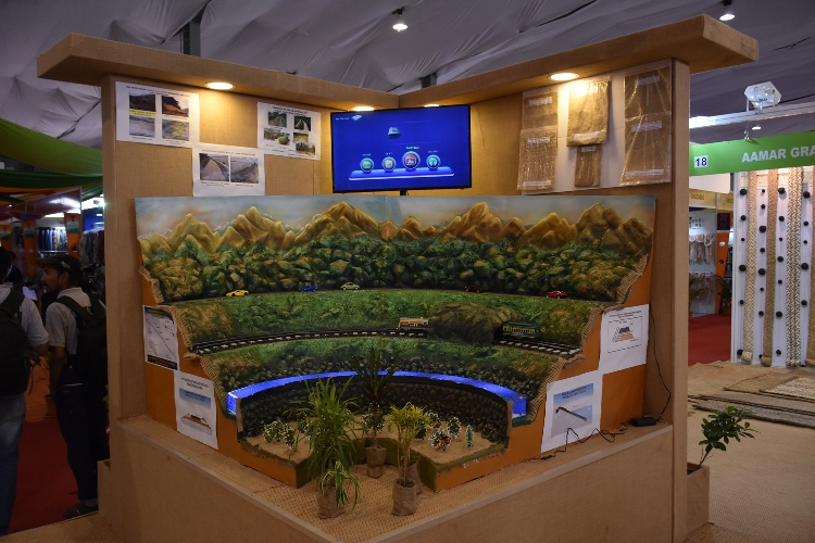 Display of Jute Diversified Products at the NJB Pavilion at Helipad Exhibition Ground, Gandhinagar, Gujarat during Textile India 2017
