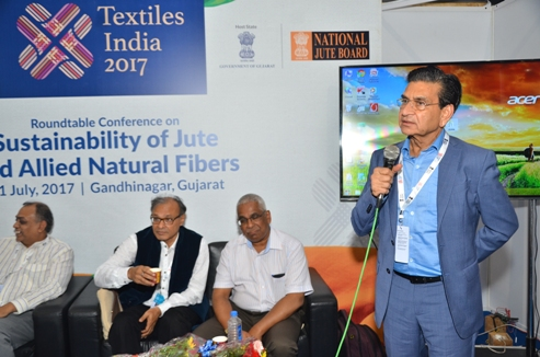 Proceedings at the session of the Round Table Conference on Sustainability of Jute and Allied Natural Fibres during Textile India 2017 at Gandhinagar, Gujarat